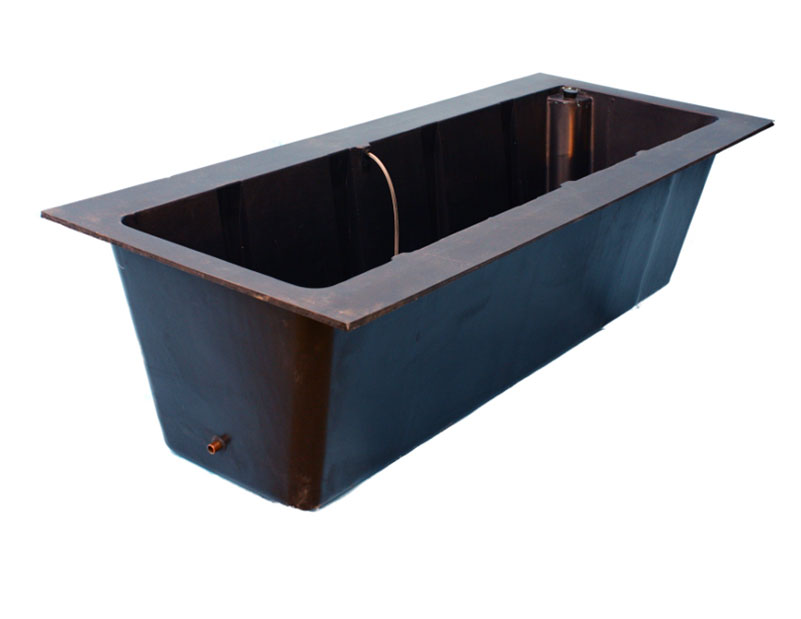 T cws rectangular container irrigation planter liners for Koi pond insert
