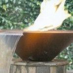 geo round fire & water bowl